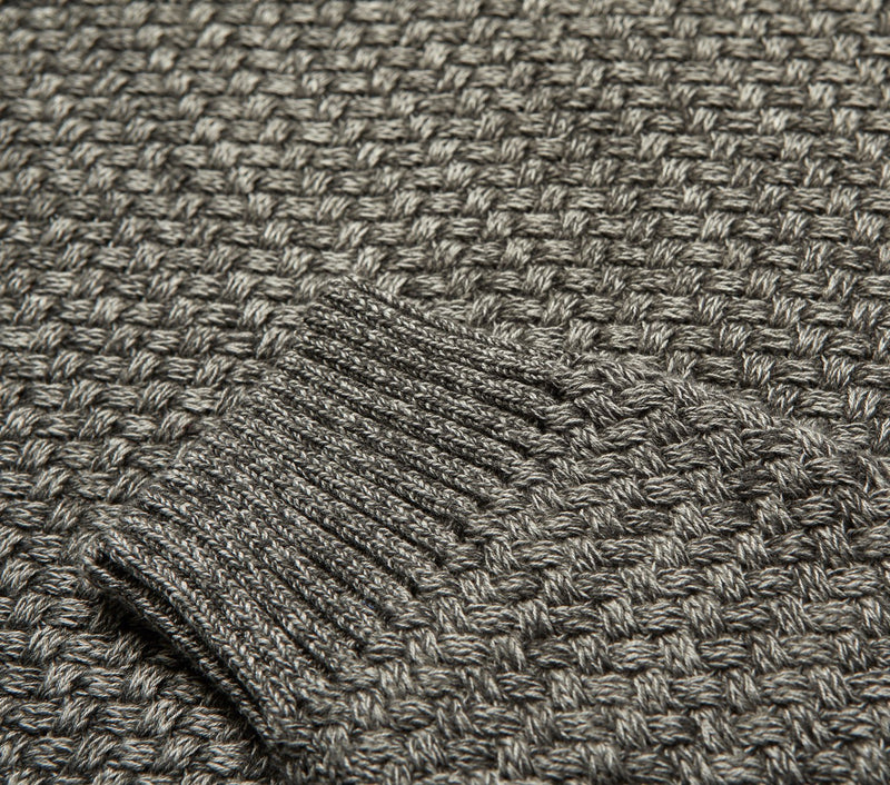 Textured Alza Sweater - Charcoal Marle