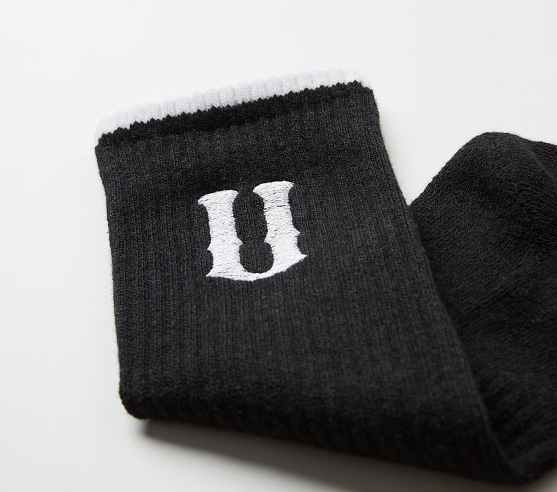 U logo Sock - Black