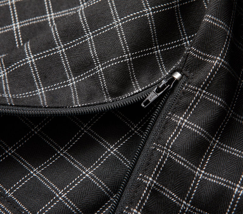 Smart Zespy Pant - Black/White Check