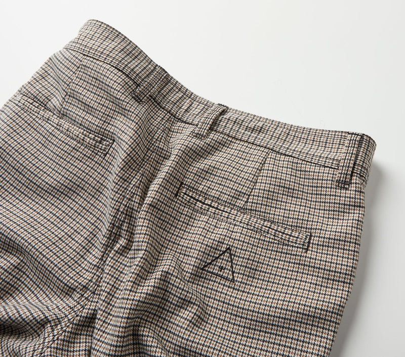 Smart Zespy Pant - Tan Houndstooth