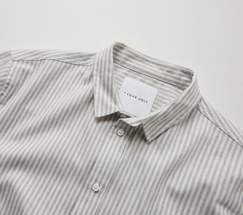 Nautical Stripe Jonty SS Shirt - Grey/White