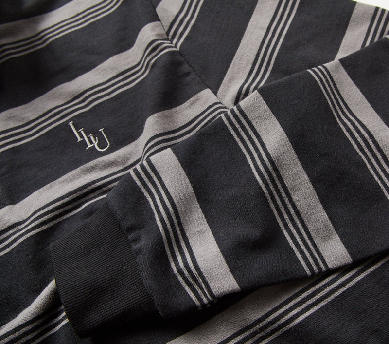Striped Rugby Jersey - Smokey Black Stripe