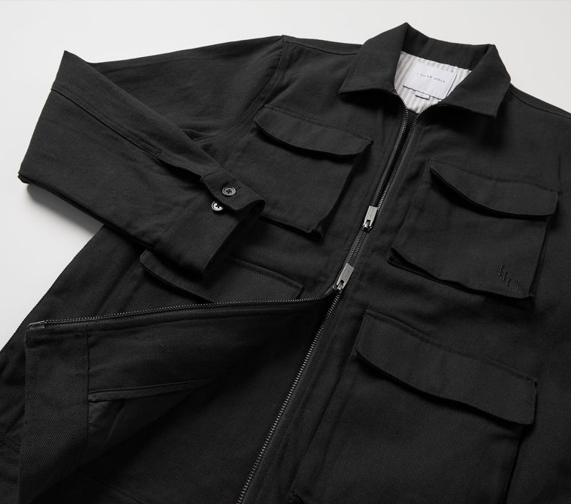 Utility Poker Jacket - Black
