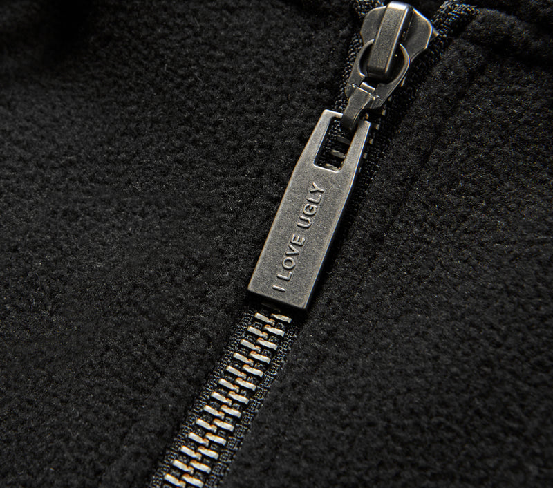 Zip Bobby Hood - Black Fleece
