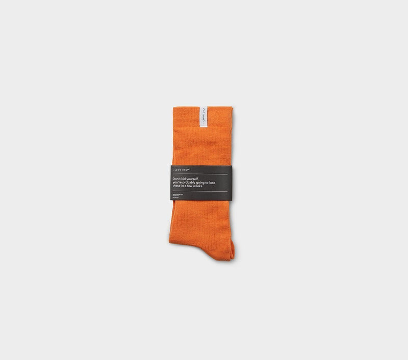 Ribbed Sunday Sock - Tangerine