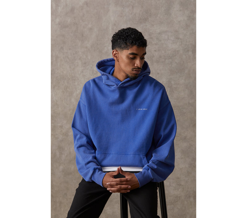 Box Fit Hood - Washed Blue