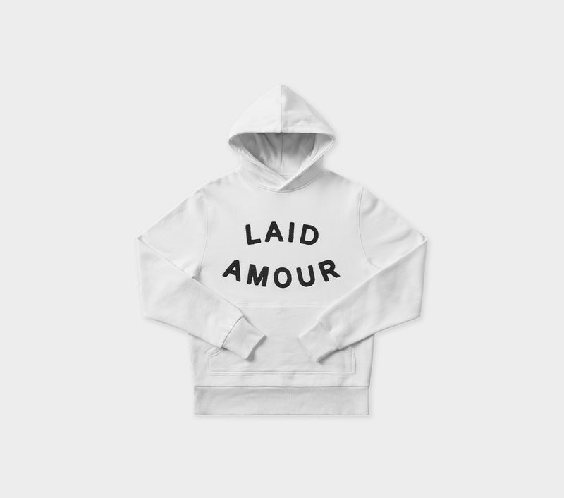 Laid Amour Hood - White