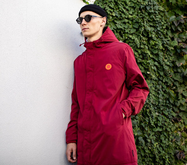 Hudson Parka Jacket - Brick Red