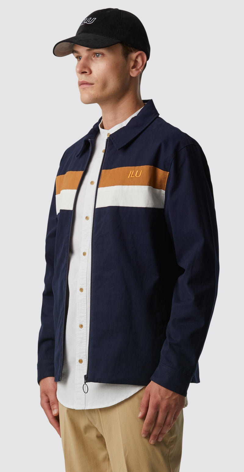 Rocco Jacket - Navy Stripe