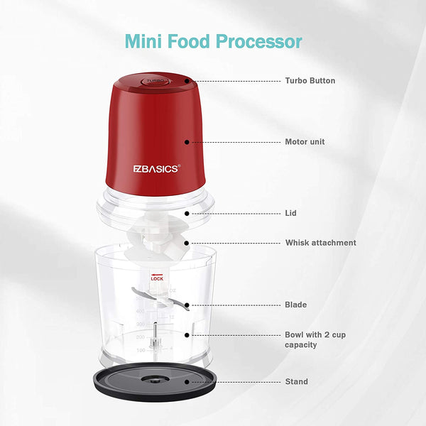 Electric Food Chopper, 2 Cup