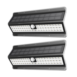 Solar Lights Outdoor 56 LED, Black shape, 2 Pack