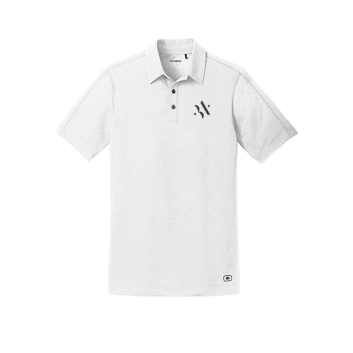 MENS STAR POLO WHT