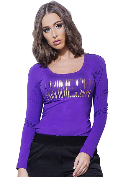 Amnesia Naomi Tops for Women - Long Sleeve Round Neck Ladies T-Shirts