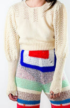 Load image into Gallery viewer, 80s Mosaic Mohair Jumper