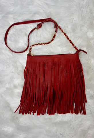 Ruby Fringe Crossbody Purse