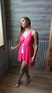 Pink High/Low Romper