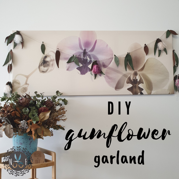 Needle + Felt DIY Gum Flower Garlands