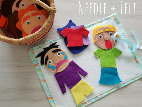 Needle and Felt Emotions Dress Up Felt Kit