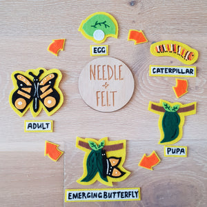 Caterpillar Life Cycle Felt Board Kit