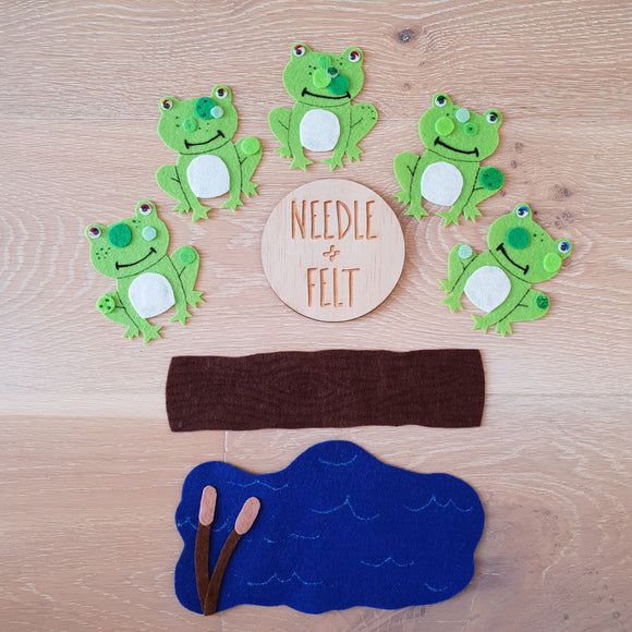 Five Little Speckled Frogs Felt Board Story Song
