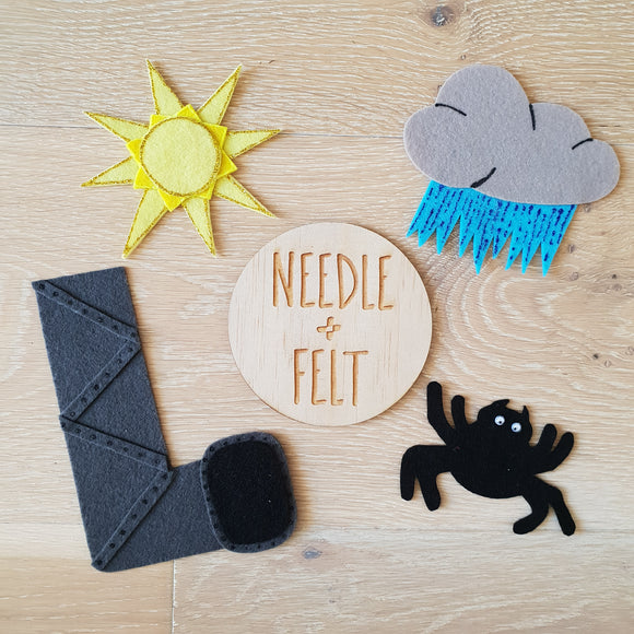 Incy Wincy Spider Felt Board Story Song