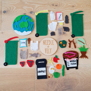 Recycling and Sustainability Felt Board Kit