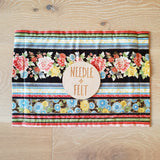 Oriental Floral a4 Roll Up Felt Play Mat