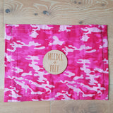 Pink Camo a3 Roll Up Felt Play Mat