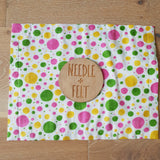 Pink Polka a4 Roll Up Felt Play Mat