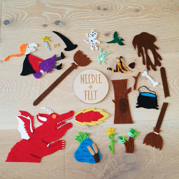 Room on the Broom Felt Board Story