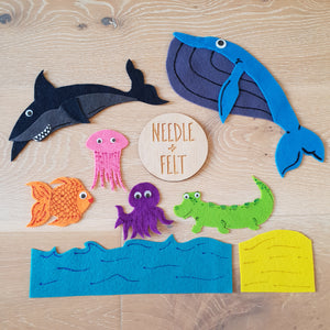 Slippery Fish Felt Board Story Song