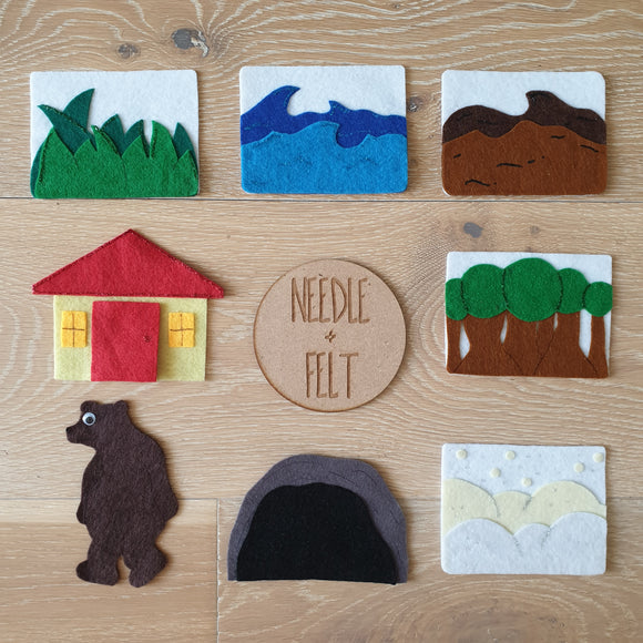 We're Going on a Bear Hunt Felt Board Story