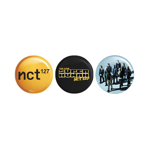 NCT 127 Superhuman 3pc Pin Set