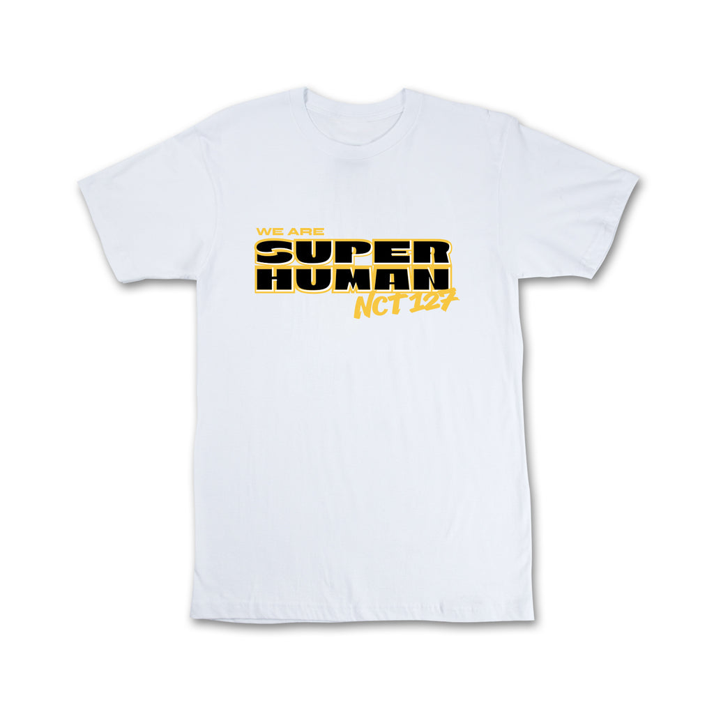 NCT 127 Superhuman Short sleeve White T-Shirt