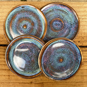 Blue Iris Trinket Tray Quartet