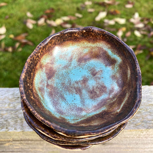 Aged Copper Trinket Bowl Quartet