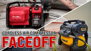 CORDLESS AIR COMPRESSOR FACE OFF! MILWAUKEE VS DEWALT!