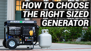 How to choose the right size generator