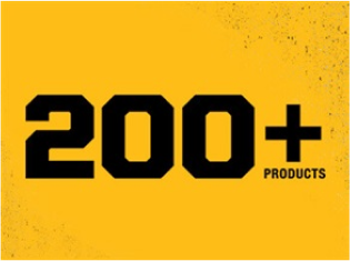 DeWALT cordless platform with 200+ products