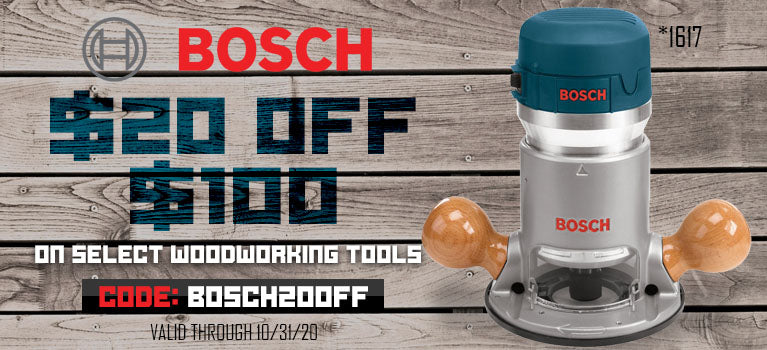 $20 Off $100 on select Bosch items using code: BOSCH20OFF