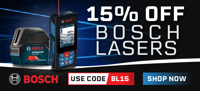 15% Off on Select Bosch lasers using code BL15.