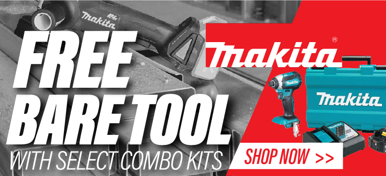 Free Bare Tool with Purchase of a 2 Piece Kit from Makita. MAKI-20111