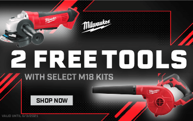 MILW-21014 2 Free bare tools with select M18 Kits