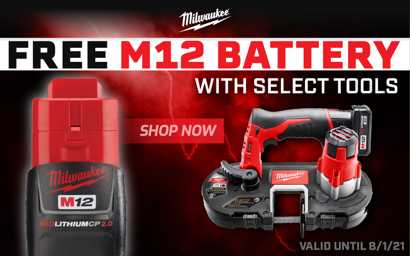 MILW-21030 Free M12 battery with select tools