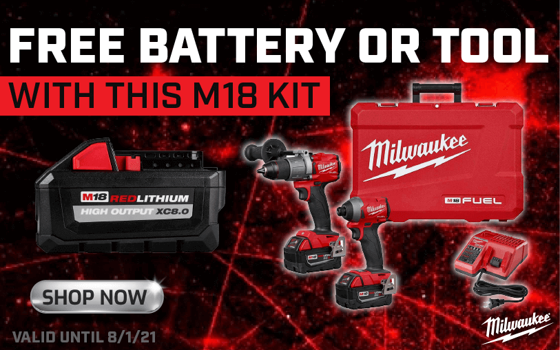 Free battery or tool with m18 kit
