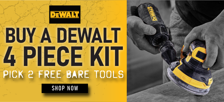 Buy a DeWALT Tool Kit and Pick a 2 FREE Bare Tools. SBDK-20114.