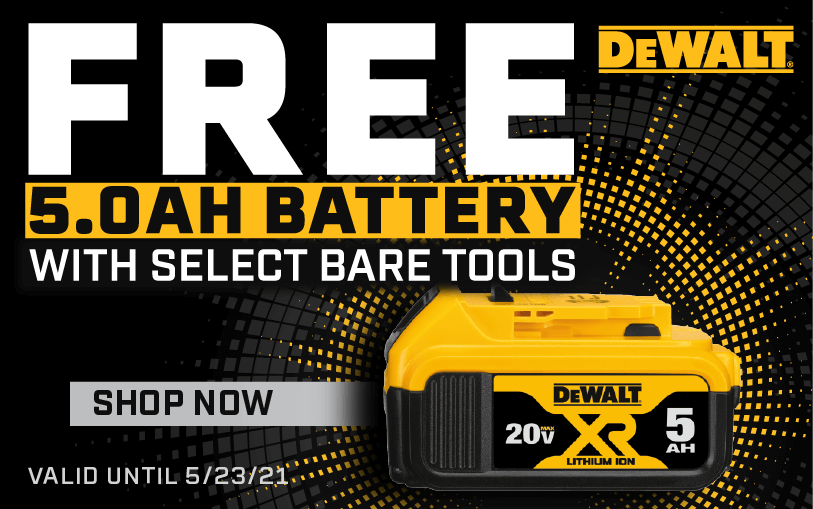 FREE 5AH Battery with select bare tools