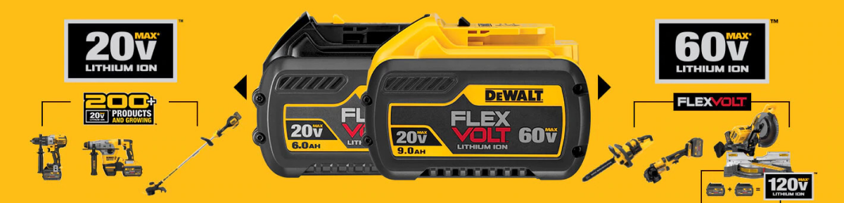 FlexVolt tools infographic