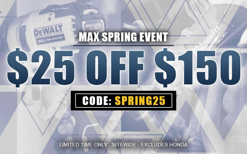 $25 off $150 using code SPRING25