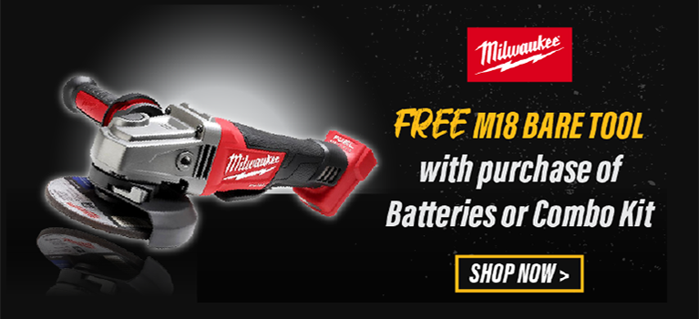 Free M18 Bare Tool with Purchase of Batteries of Combo Kit. MILW-20098
